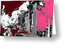 Film Homage D.w. Griffith Intolerance 1916 Fall Of Babylon 1916-2012  Greeting Card by David Lee Guss