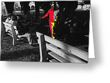 Film Homage Elmer Gantry 2 1960 Street Preacher Armory Park Tucson Arizona Greeting Card