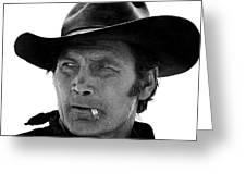 Film Homage Jack Palance Monte Walsh Set Old Tucson Arizona 1969 Greeting Card