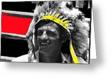 Film Homage Jean-paul Belmondo  Fake Indian Bonnet Love Is A Funny Thing  Old Tucson Az 1969-2008 Greeting Card