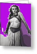 Film Homage Jean Rogers Dale Arden Flash Gordon Serial 1936 Publicity Photo Color Added 2008 Greeting Card
