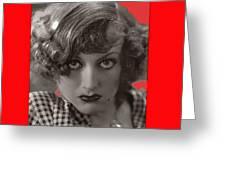 Film Homage Joan Crawford Louis Milestone Rain 1932 Collage Color Added 2010 Greeting Card