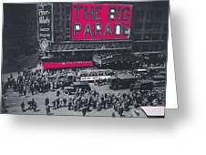 Film Homage John Gilbert King Vidor The Big Parade 1925 Color Added 2010 Greeting Card