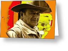Film Homage John Wayne Andy Warhol Inspired Rio Lobo Variation 1 Old Tucson Arizona 1970-2009 Greeting Card