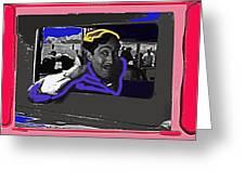 Film Homage Julian Rivero Burn 'em Up Barns 1934 Mascot Serial Collage Screen Capture 2008 Greeting Card