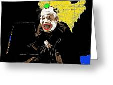 Film Homage Lon Chaney He Who Gets Slapped 1924 Color Added 2008 Greeting Card