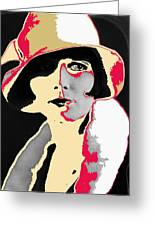 Film Homage Louise Brooks In Flapper Hat 1927-2013 Greeting Card