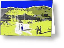 Film Homage Old Tucson Arizona In The Mid 1940's Greeting Card