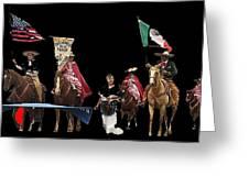 Film Homage Ride Vaquero 1953  2 Hispanic Riders  Rodeo Parade Tucson  Az 2002-2008 Greeting Card
