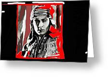 Film Homage Rudolph Valentino The Shiek 1921 Collage Color Added 2008 Greeting Card