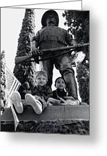 Film Homage Tearing Down The Spanish Flag 1898 Veteran's Day Parade 1984 Armory Park Tucson Greeting Card