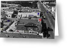Film Homage Ted Degrazia Cine Plaza Theater  Blue W. Congress Tucson Arizona 1936-2008 Greeting Card