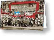 Film Homage The Air Mail  Leader Theater Washington D.c. 1925-2010 Greeting Card