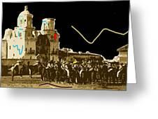 Film Homage The Gay Desperado Set San Xavier Mission Tucson Arizona 1936-2008 Greeting Card