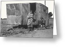 Film Homage The Grapes Of Wrath 1 1940 Family In Shack Perhaps Eloy Arizona 1940-2008 Greeting Card