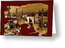 Film Homage The High Chaparral Set Collage Old Tucson Arizona C.1967-2013 Greeting Card