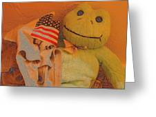 Film Homage The Muppet Movie 1979 Number 1 Froggie Colored Pencil American Flag Casa Grande Az 2004 Greeting Card
