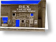 Film Homage The New Adventures Of Tarzan 1935 1935/1937-2010 Rex Theater Leland Mississippi Greeting Card
