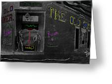 Film Homage The Quiet Man 1952 The Old Corner Saloon  Red Light District Tucson Arizona C.1880-2008  Greeting Card