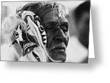 Film Homage The Yaqui 1916 Pascola Dancer New Pascua Arizona 1969-2008   Greeting Card