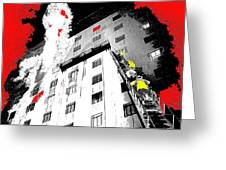 Film Noir Act Of Violence 1949 Pioneer Hotel Fire 1970 Jack Schaeffer Photo Color Added 2012 Greeting Card