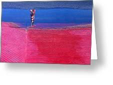 Film Noir  Angela Lansbury The Manchurian Candidate 1962 Flag Water Reflection Casa Grande Az 2005 Greeting Card
