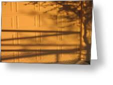Film Noir Caught 2 1949 Shadow On Garage Door Casa Grande Arizona. 2004 Greeting Card