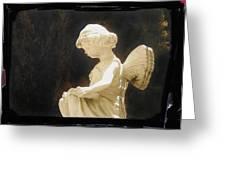 Film Noir Cinematographer Harry Wild Claire Trevor Johnny Angel 1945 Statue Arizona City Az 2005 Greeting Card
