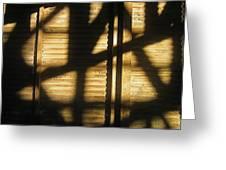 Film Noir Dick Powell Edward Dmytryk Cornered 1945 Building Interior Shadows Coolidge Arizona  2004 Greeting Card
