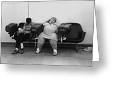 Film Noir Humphrey Bogart Laureen Bacall Dark Passage 1947  Bus Terminal St. Paul Mn 1979 Greeting Card