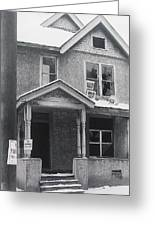 Film Noir Its A Wonderful Life 1947 Never Been Born Section Condemned House Minneapolis 1966 Greeting Card