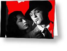 Film Noir Jane Greer Robert Mitchum Out Of The Past 1947 Rko Color Added 2012 Greeting Card