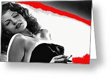 Film Noir Jean Louis Rita Hayworth Gilda 1946 Color Added 2012 Greeting Card