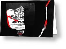 Film Noir Jim Thompson The Grifters 1990 2 Horse Dog Tracks Sign Juarez 1977 Greeting Card