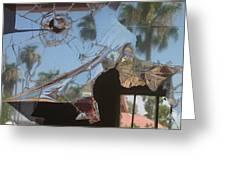 Film Noir Jim Thompson The Grifters 1990 Palm Trees Shattered Glass Casa Grande Arizona 2004 Greeting Card