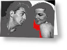 Film Noir Robert Mitchum Jane Russell His Kind Of Woman 1951 Rko Color Added 2012 Greeting Card
