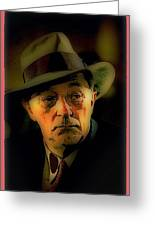 Film Noir Robert Mitchum Philip Marlowe Farewell My Lovely 1975 Publicity Photo Color Added 2013 Greeting Card