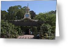 Filoli Clock Tower Garden Shop Greeting Card