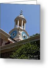 Filoli Garden Clock Tower Greeting Card