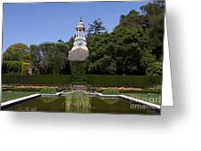 Filoli Garden With Pond Greeting Card