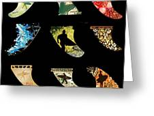 Fin Montage Greeting Card