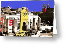 Final Days Of San Agustine Cathedral 1863-1936 Circus Poster Tucson Arizona 1936-2013 Greeting Card