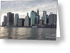 Financial District Skyline Greeting Card