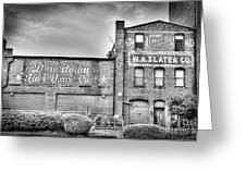Find Your Coal In Black And White Greeting Card