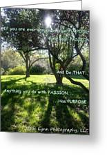 Find Your Passion Greeting Card
