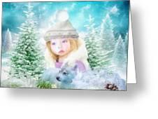 Finding Santa Greeting Card by Mo T