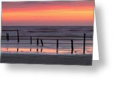 Fine Art Sunset Somerset England Greeting Card