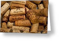 Fine Wine Corks Greeting Card