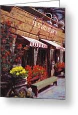 Fine Wine For Launch Italian Restraunt Bistro Jeanty Greeting Card
