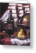 Fine Wine For New Voyage Greeting Card